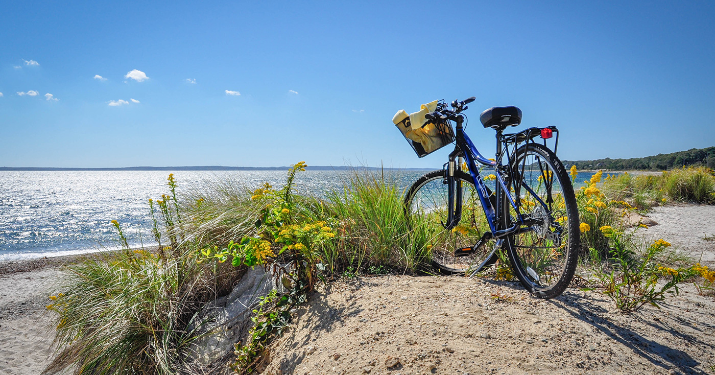 bicycle on a beach